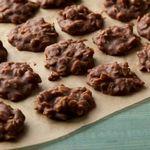 Овсяное печенье без муки, из арахисовой пасты и шоколада