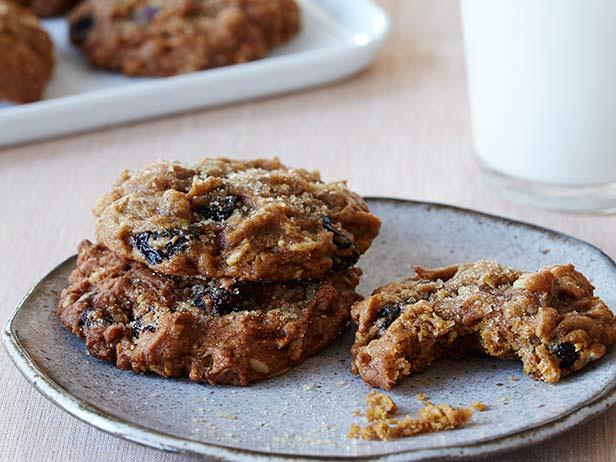 Тыквенно-овсяное печенье с изюмом