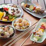 Шиш-кебаб с овощами на гриле