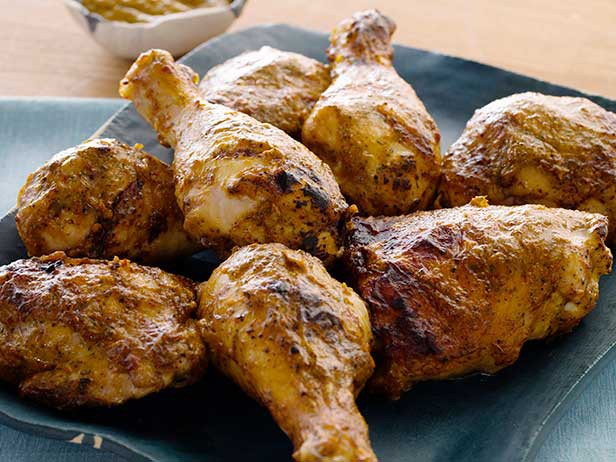 Курица барбекю с соусом чипотле и манго