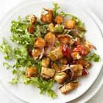 Жареный картофель с лососем