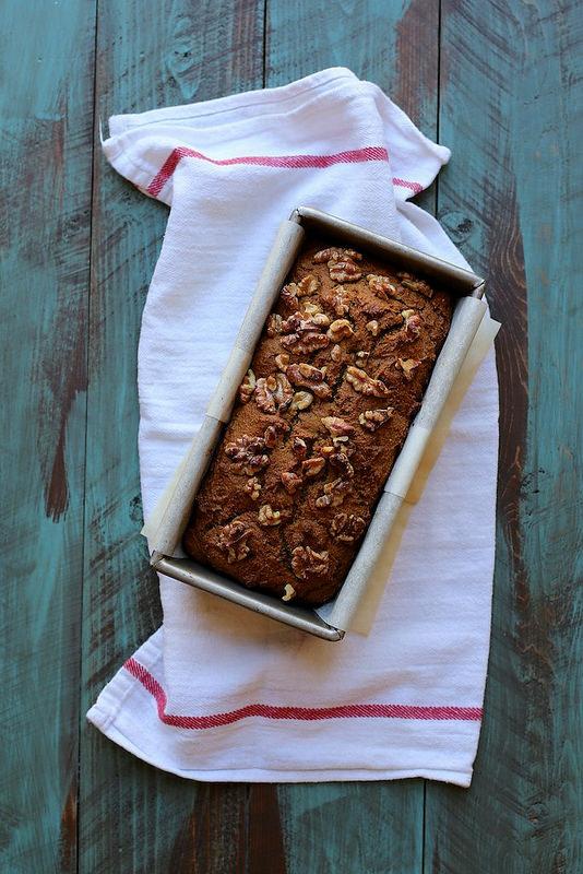 Фото Тыквенный хлеб на яблочном сидре, с изюмом и грецкими орехами