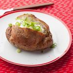 Запеченный картофель сорта Рассет