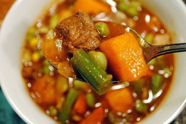 Рагу (стью) со стручковой фасолью и говядиной