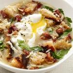 Сырный суп с яйцами
