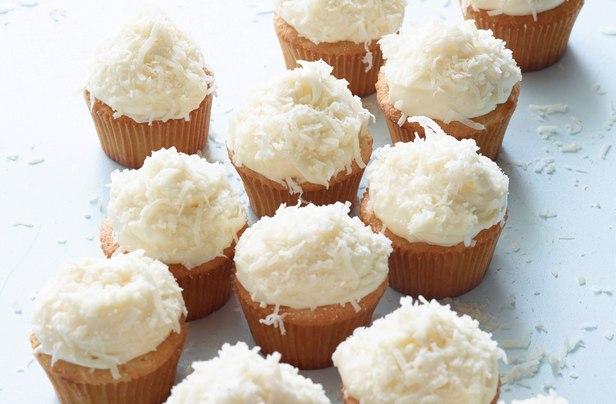 Фото Кокосовые кексы с ванильным кремом