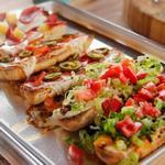 Пицца ассорти с французским багетом