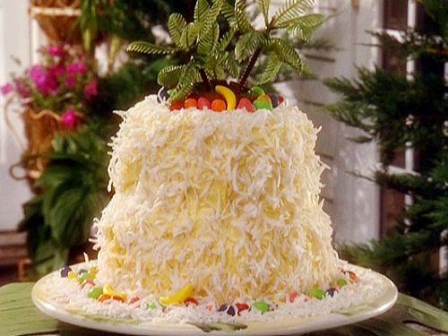 Банановый торт «Тропический остров»