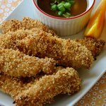 Курица жареная во фритюре с имбирным соусом