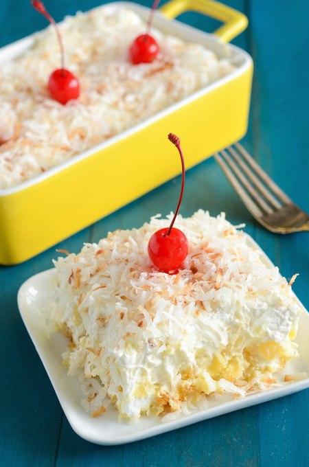 Ананасовый открытый пирог без выпечки