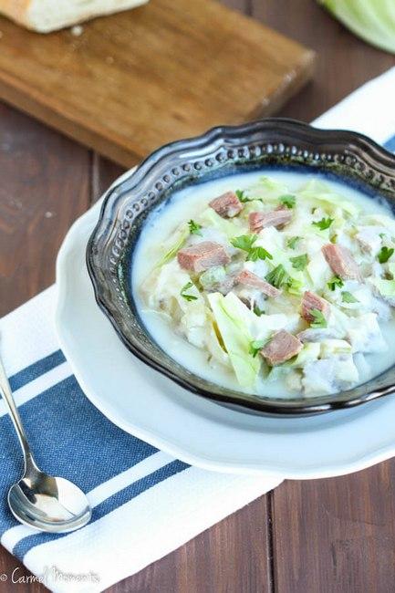 Фото Крем-суп с говяжьей солониной по-ирландски