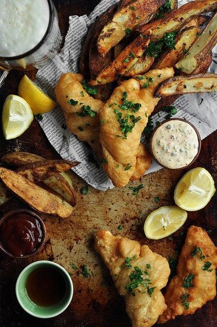 Фото Рыба с картофелем фри (Fish and Chips)