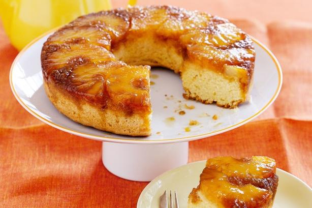 Ананасовый перевернутый пирог