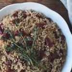 Традиционный ямайский рис с фасолью