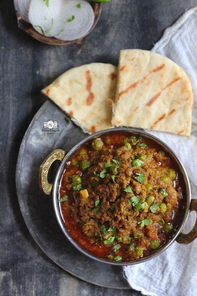 Кима-матар – индийское блюдо из телячьего и говяжьего фарша с зеленым горошком и специями