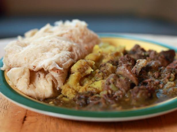 Мясо козла в соусе карри по-тринидадски