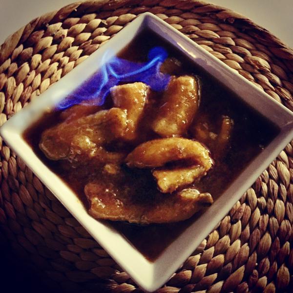 Банановое фламбе с ромом