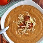 Баклажанный крем-суп с карри по-карибски