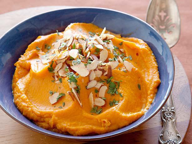 Фото Пюре из сладкого картофеля с ароматом мохито