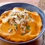 Пюре из сладкого картофеля с ароматом мохито