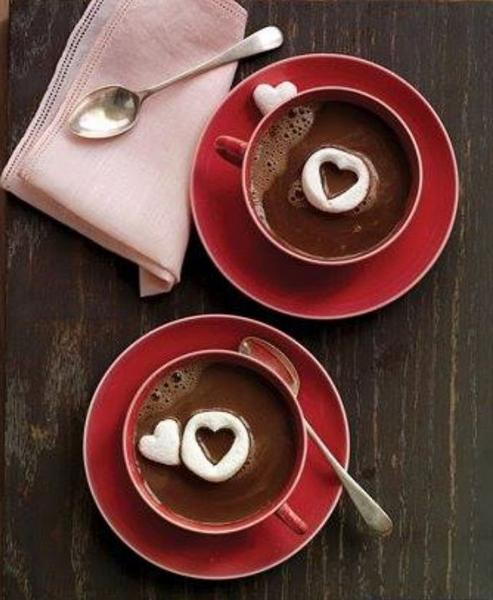 Фото Романтический горячий шоколад