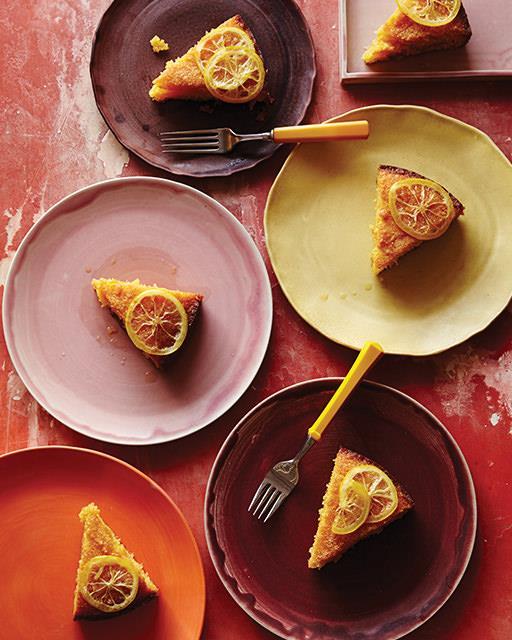 Лимонный кекс с полентой