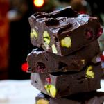 Шоколадно-фисташковые конфеты-пирожные (фадж)