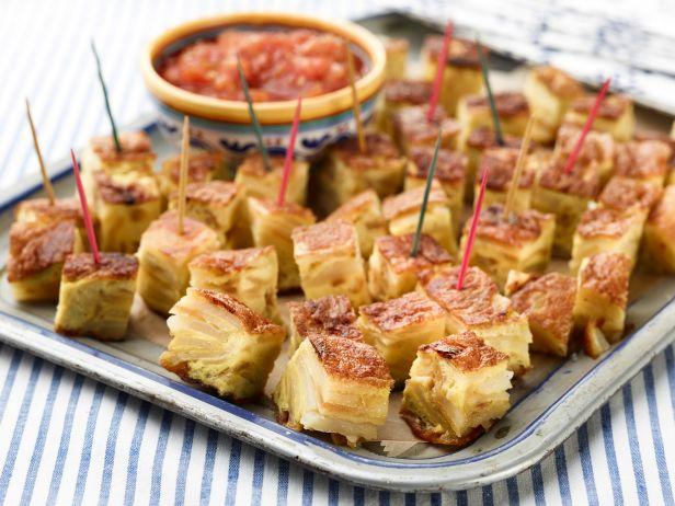 Испанская тортилья-канапе