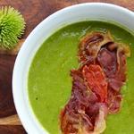 Испанский гороховый суп с ветчиной