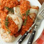 Курица в каталонском соусе романеско
