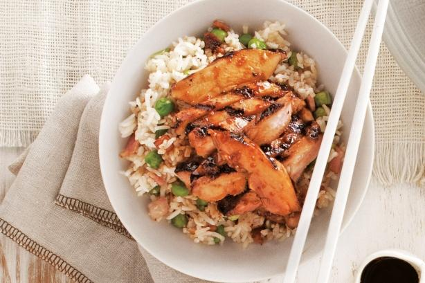 Фото Курица терияки с имбирным рисом