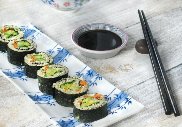Фото Овощные суши роллы для всех возрастов