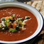 Холодный суп-пюре из запеченного сладкого перца