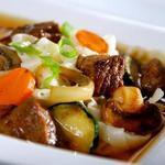 Японская лапша с мясом и овощами