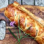 Греческий штрудель с курицей и рисом