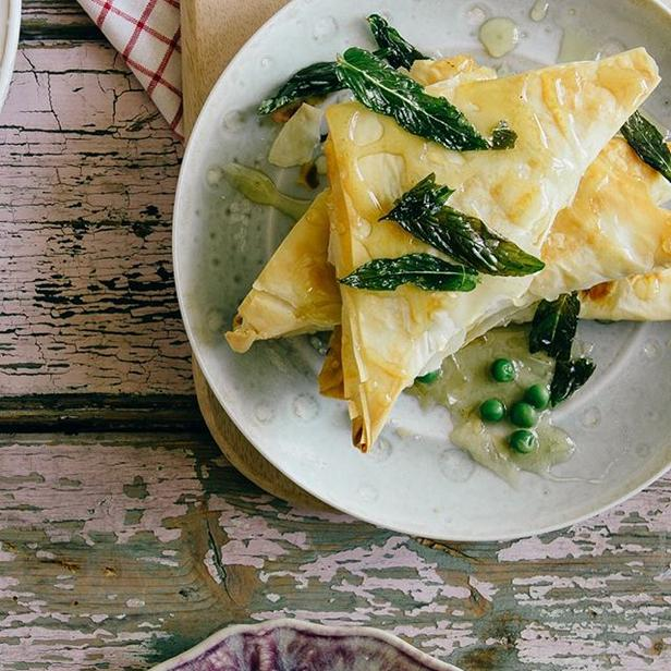 Фото Пирожки с сыром «Спанакопита» из теста фило