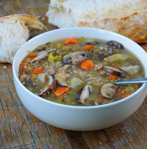 Суп-лапша «Фо» с грибами