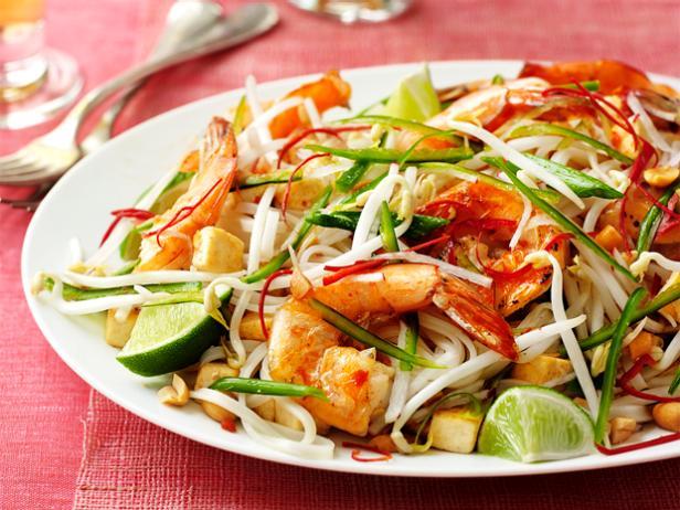 Фото Рисовая лапша «Пад тай» с креветками
