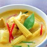 Желтое тайское карри с овощами