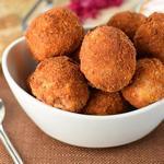 Картофельные шарики с квашеной капустой