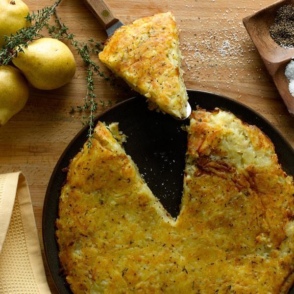 Рости (швейцарские оладьи из натертого картофеля)