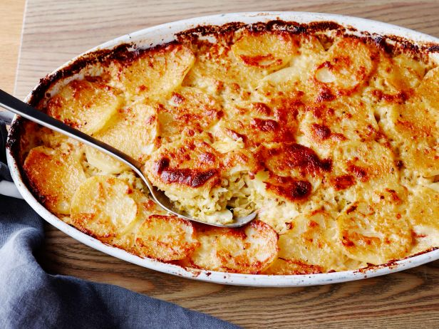Картофельный гратен с савойской капустой
