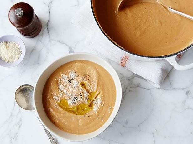 Фото Тыквенный суп со сливками и сыром