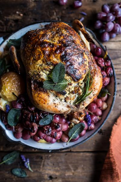 Курица, запеченная с травами, для воскресного ужина