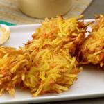 Латкес из картофеля и моркови