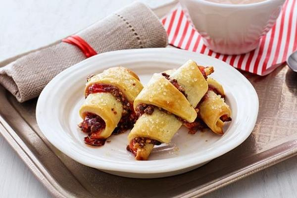 Фото Абрикосово-вишневые «Ругелах» (печенье «пальчики»)