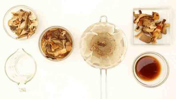 замоченные сушеные грибы