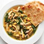 Куриный суп с репой и нутом