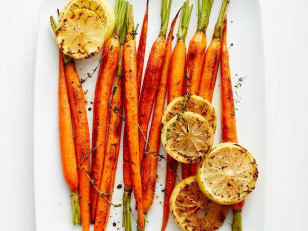 Фото Морковь, запеченная с лимоном и тимьяном