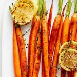 Морковь, запеченная с лимоном и тимьяном